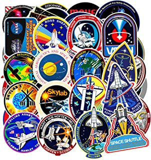 Vinyl Universe NASA Stickers Pack 45 Pcs Space Explorer Stickers Astronaut Decals for Laptop Ipad Car Luggage Water Bottle Helmet