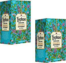 Typhoo Refreshing Organic Peppermint Tea with Pure Peppermint (Pack of 2)