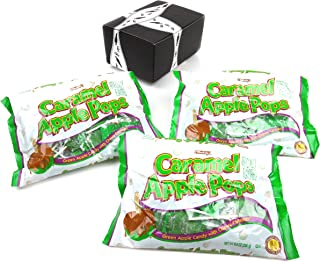 Tootsie Caramel Apple Pops, 9.4 oz Bags in a BlackTie Box (Pack of 3)
