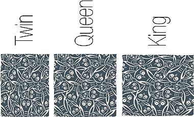 Deny Designs Heather Dutton Night Owl Duvet Cover, Queen