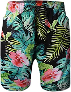 Men's Funny Swim Trunks Quick Dry Summer Surf Beach Board Shorts with Mesh Lining/Side Pockets