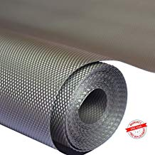 Bulfyss Multipurpose Textured Super Strong Anti-Slip Mat Liner - Size 45X500cm (5 Meter Roll, Grey)