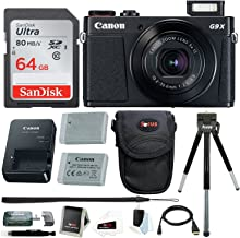Canon Powershot G9 X Mark II Digital Camera with 32GB Card + Battery and Bundle