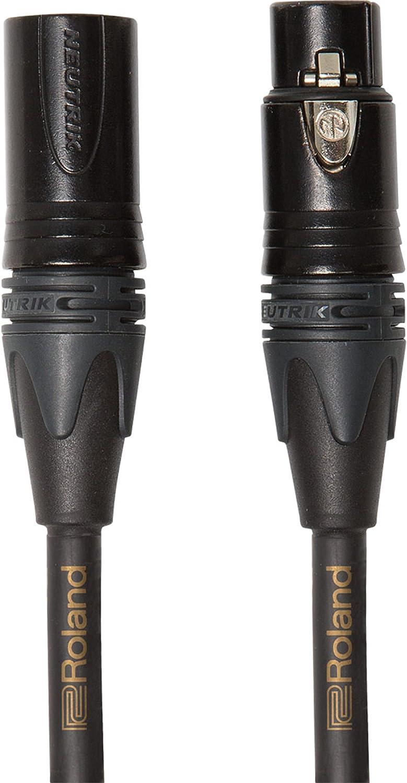 Cable de micrófono balanceado de la serie Gold de Roland — Conectores XLR de Neutrik de 1m de longitud - RMC-G3
