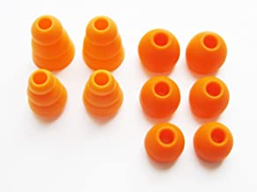 Orange Replacement Earbuds Eartips Set Compatible with Monster Beats Dr. Dre Tour, urBeats 2.0, Heartbeats 2.0 (Lady Gaga), DiddyBeats and Monster Turbine Pro in-Ear Stereo Earphones
