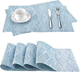 moonlux Podkładki na stół zmywalny, 6 sztuk, odporne na ścieranie, odporne na wysokie temperatury, PCW, podkładki na stół ...