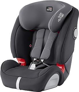 Britax Römer Kindersitz 9 Monate - 12 Jahre I 9 - 36 kg I EVOLVA 123 SL SICT Autositz Isofix Gruppe 1/2/3 I Storm Grey