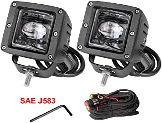 LED Light Pods, Wayup 2Pcs 3'' SAE Fog Lights Off Road LED Driving Light DOT Approved Square LED Cubes OSRAM Work Light for Truck Jeep Ford ATV UTV Motorcycle, 3 Years Warranty