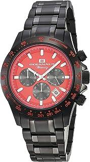 ساعة اوشينت بيارتز انالوج كوارتز للرجال مع سوار من الستانليس ستيل، أسود، 20 (OC6115)