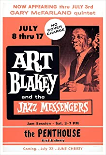 Art Blakey and the Jazz Messengers Concert Poster Print by delovely Arts