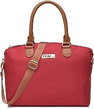 NNEE Water Resistance Nylon Top Handle Satchel Handbag with Multiple Pocket Design