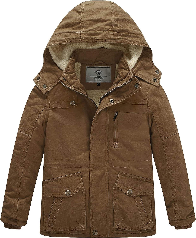 WenVen Boy's Very popular Girl's Winter Cotton Hooded Coat Jack Parka Max 68% OFF Heavy