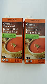 Trader Joe's Tomato and Roasted Red Pepper Soup Low Sodium Pack of 2