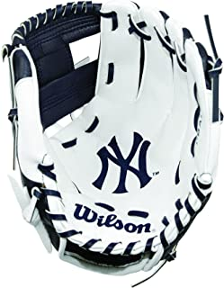 Wilson A200 Youth MLB 10 Tee Ball Glove in Team Logo Designs,  All Positions and Perfect for Beginners