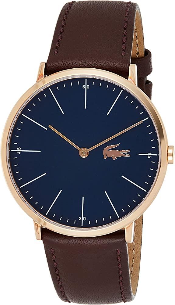 Lacoste orologio analogico  uomo con cinturino in pelle 2010871