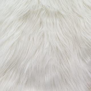 Faux Fake Fur Monkey White 60 Inch Fabric by the Yard (F.E.®)