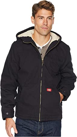 Sanded Duck Sherpa Lined Hooded Jacket