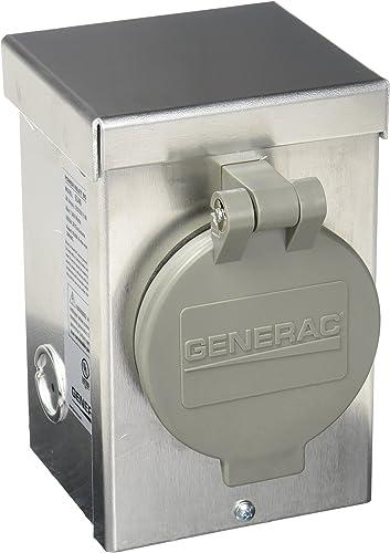 wholesale Generac sale 6346 30-Amp 125/250V Aluminum Power outlet online sale Inlet Box with Spring-Loaded Flip Lid outlet sale