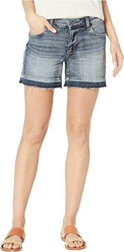 Andrea Five-Pocket Shorts w/ Released Hem in Persist w/ Medium Base Wash