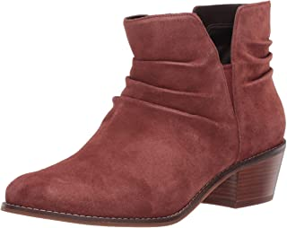 Cole Haan Women's Alayna Slouch Bootie Ankle Boot, Cherry Mahogany Suede, 10 B US