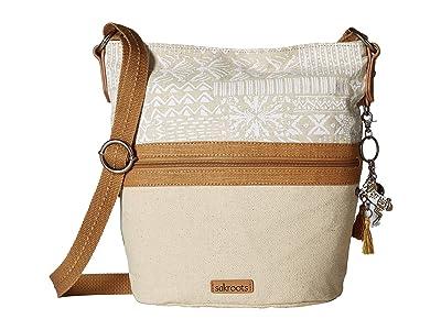 Sakroots Artist Circle Soft Bucket (White Tribal Beauti) Handbags