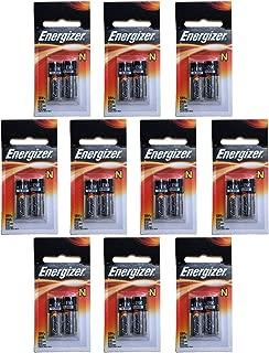 10x Energizer E90-BP-2 N 1.5V Alkaline Batteries Replaces DRY1390, DURMN9100B2, E90, EVRE90BP2, GP910A, KN, KN2, LR01, LR1, LR1N 810, 910A, 910D, AM5, E90, LR1SG, MN9100, N, R1, 23023A, 4001, 5U076