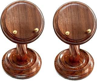 Artshai Handmade Wooden Pocket Watch Display Stand (Set of 2)