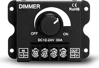 LED Dimmer DC 12V-24V Lighting Dimming Controller 30A 12 Volt 24 Volt Light Dim Switch. Easy Solution for LEDs Strips Tube...