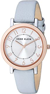 Anne Klein Women's Easy to Read Leather Strap Watch