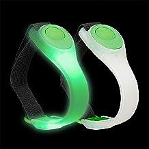 Relaxdays led armband, 2 stuks, knipperend of continue, joggen, hardlopen, wandelen, veiligheidslicht, kleurkeuze