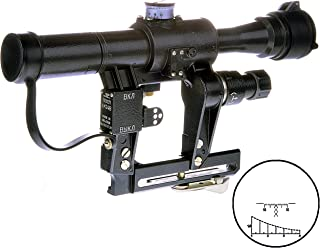 BelOMO POSP 4x24 V (B). Optical Rifle Scope. Russian Side Mount. 400m Rangefinder. 1 MOA. Combloc