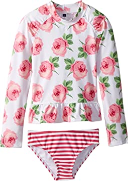 Floral Rashguard Swim Set (Toddler/Little Kids/Big Kids)