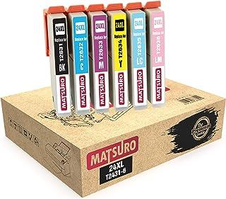 Matsuro Original | Compatible Cartuchos de Tinta Reemplazo para EPSON 24XL T2431 T2432 T2433 T2434 T2435 T2436 (1 Set)