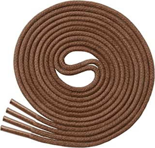 thick round brown shoelaces