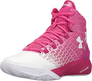 Under Armour Kids Boy's UA BGS ClutchFit Drive 3 (Big Kid) Tropic Pink/White/White Sneaker 6.5 Big Kid M