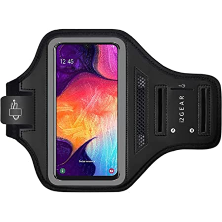 Black Sports Armband Phone Case Cover Gym Running FOR Samsung Galaxy A70s