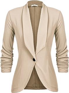 Beyove Women's Lapel Pocket Button Work Office Blazer...