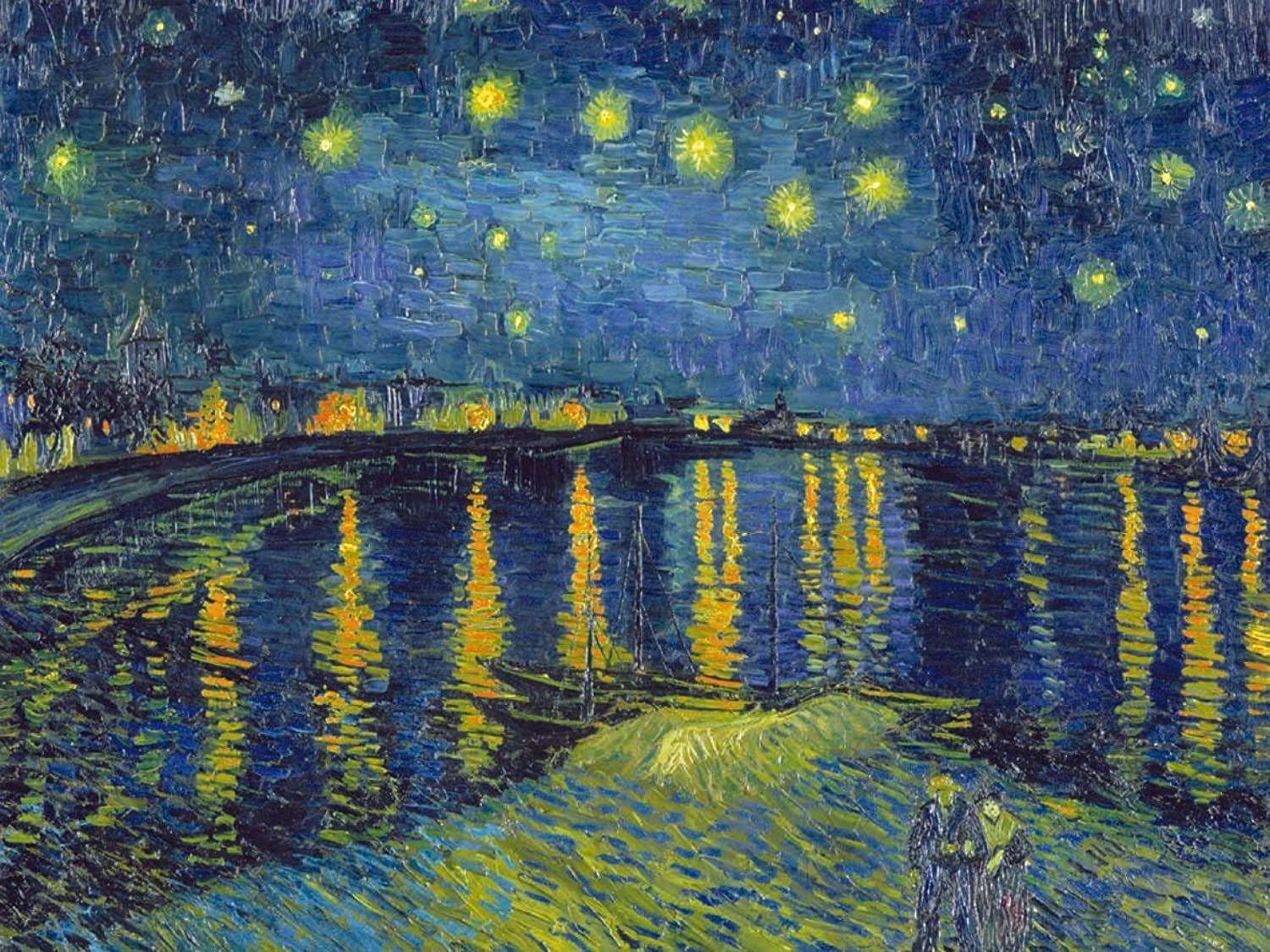 Clementoni  Museum Collection 1000 piece Starry Night On The Rhone  Van Gogh Puzzle