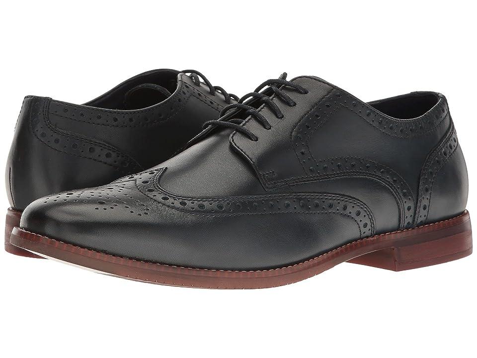 Rockport Style Purpose Wingtip (Navy Leather) Men