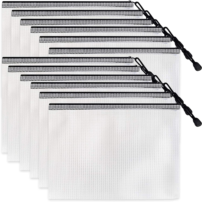 CAIHONG Milwaukee Mall 24pcs Mesh Zipper Pouch Document F Bag File Zip Plastic Ranking TOP17