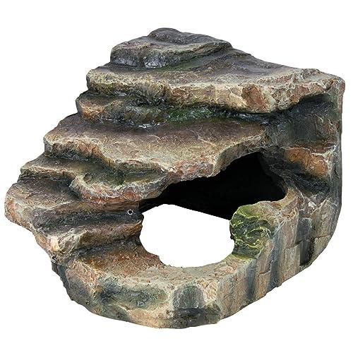 Trixie - Roca de Esquina con Cueva y Plataforma, 16 x 12 x 15 cm