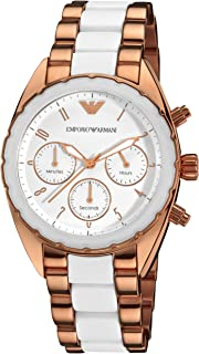 Emporio Armani Women White Stainless Steel Casual Watch - Ar5942