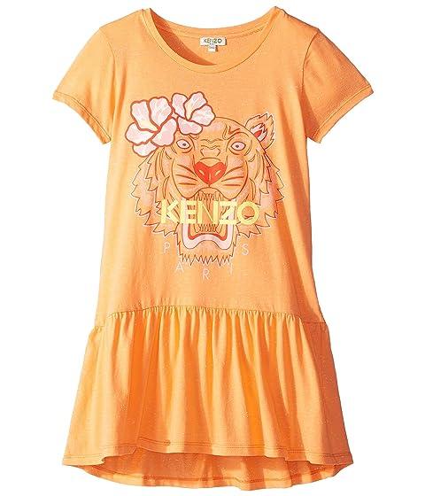 Kenzo Kids Ruffled Tiger Dress (Big Kids)