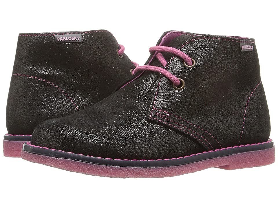 Pablosky Kids 4355 (Toddler/Little Kid) (Black Sparkle) Girl