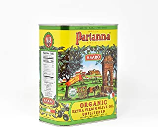 Partanna Everyday USDA Organic Extra Virgin Olive Oil | Real Sicilian Extra Virgin Olive Oil | 64-FL Ounce Tin | Olive Oil...