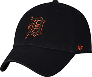 Detroit Tigers Black with Orange Outline Clean Up Adjustable Hat