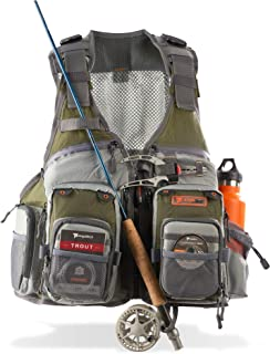 Anglatech Fly Fishing Vest Pack for Trout Fishing Gear and Equipment, Adjustable Size for..