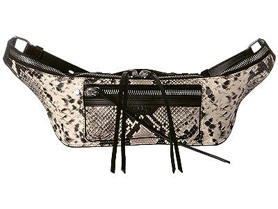 rag & bone Elliot Fanny Pack (Black/White) Bags