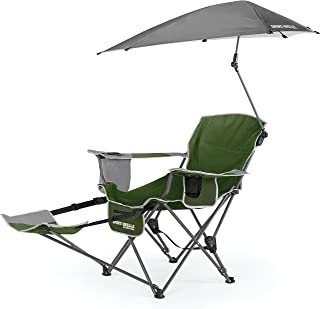 Sport-Brella 3-Position Recliner Chair with Removable Umbrella and Footrest