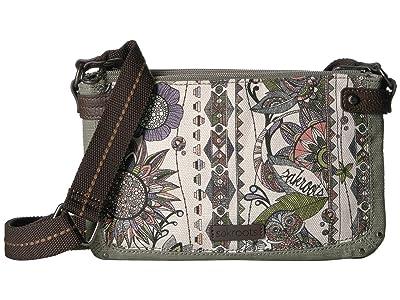 Sakroots Tarzana Triple Gusset Mini (Pastel Spirit Desert) Cross Body Handbags